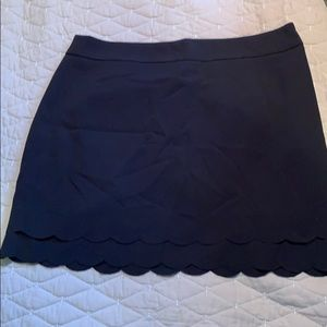 LOFT Skirts - Ann Taylor Loft Black scalloped shirt